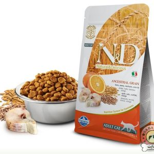 Farmina غذای خشک گربه بالغ حاوی ماهی و پرتغال N&D
