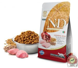 Farmina غذای خشک گربه بالغ حاوی مرغ و انار N&D