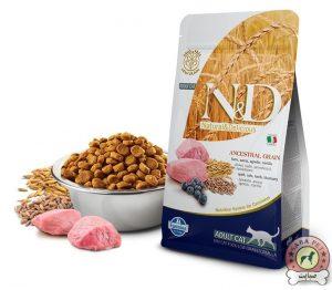 Farmina غذای خشک گربه بالغ حاوی گوشت بره و بلوبری N&D