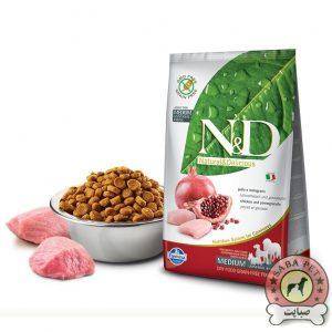 Farmina غذای خشک سگ رژیمی بالغ نژاد کوچک و متوسط حاوی مرغ و انار N&D